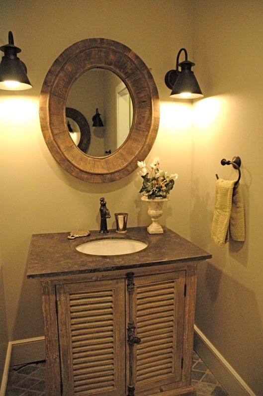 One sink in the Master bath.