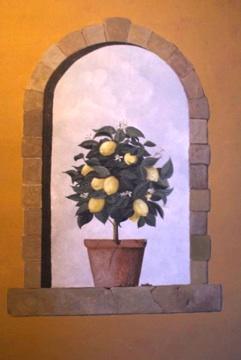 One of his trompe l'oeil murals.