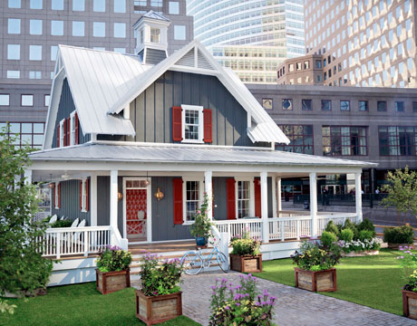 The Country Living House of the Year 2010 was a New World Home, built near the Seaport in downtown Manhattan.