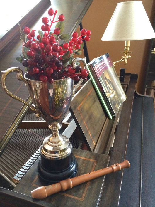 This was actually taken at another house for a photo shoot, but the trophy came from Silverwood!
