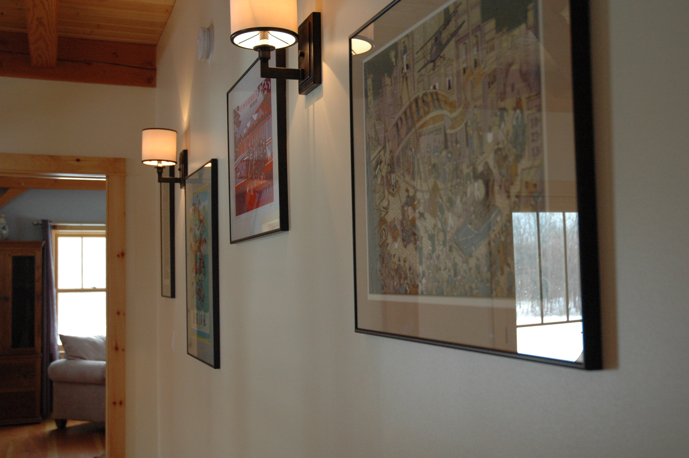 The Pieper's are big Phish fans and Ed has had all of their local concert posters framed from over the years.